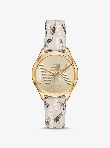 Логотип Mini Jaycie и золотые часы Michael Kors