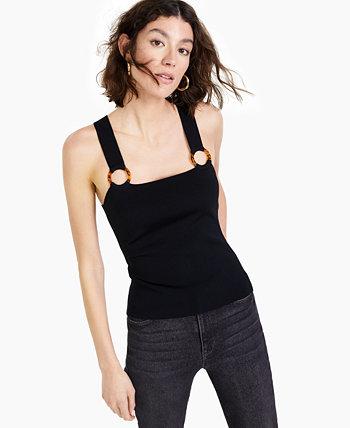 Майка свитера с квадратным вырезом и уплотнительным кольцом, создана для Macy's Bar III