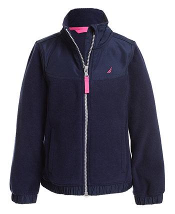Куртка на молнии с флисовой застежкой-молнией Little Girls Nautica