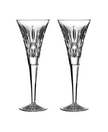 Lismore Toasting Flute Glass, Set of 2 Waterford