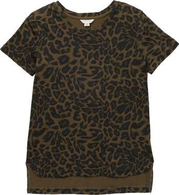 Londyn Leopard Print High/Low T-Shirt HABITUAL girl