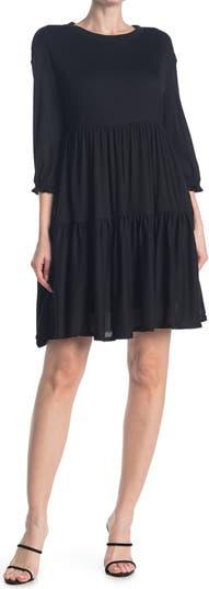 Уютное платье бэбидолл с рукавами до локтя MELLODAY