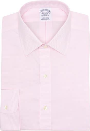 Классическая рубашка Regent Fit с эластичными пуговицами спереди без железа Brooks Brothers
