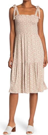 Миди-платье со сборками на лифе American Rag