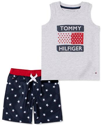 Детские Мальчики 2-Шт. Майка и шорты All-Star на кулиске Tommy Hilfiger