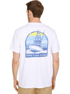 Футболка Sunset Cruise с короткими рукавами и карманами Vineyard Vines