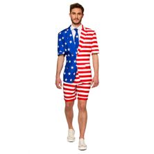 Мужской летний костюм и галстук Suitmeister с американским флагом Suitmeister