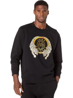 3-D Jaguar Logo Crew Neck Sweatshirt Just Cavalli