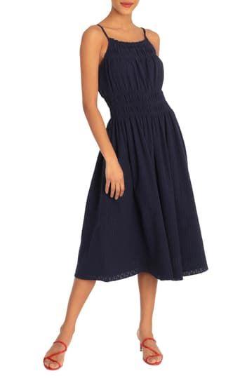 Платье без рукавов со сборками спереди Donna Morgan
