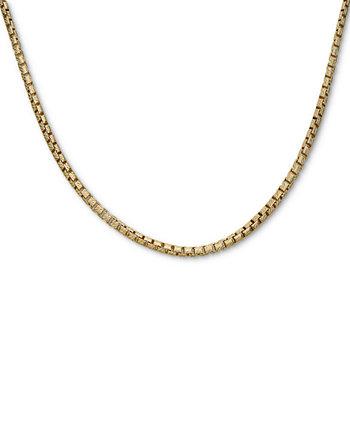 """Box Link 24 """"Цепное ожерелье из позолоченного серебра 18 карат Macy's"""