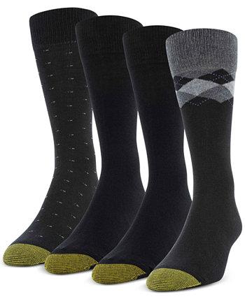 4 пары мужских носков Clock Argyle Special с носками Gold Toe