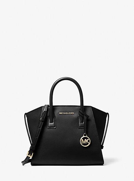Маленькая кожаная сумка-портфель Avril на молнии сверху Michael Kors
