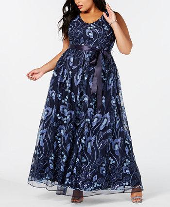 Вышитое платье большого размера R & M Richards