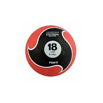 Champion Sports PRM18 18 lbs Rhino Elite Medicine Ball, Red Champion Sports