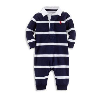 Хлопковый комбинезон для регби для маленьких мальчиков Ralph Lauren