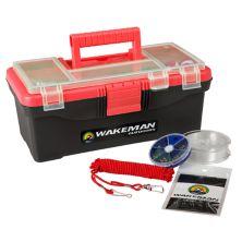 Wakeman Outdoors 55-Piece Single-Tray Fishing Tackle Box Wakeman Outdoors