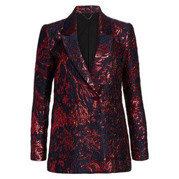 Пиджак из шелка и жаккарда с эффектом металлик Amboy Rachel Comey