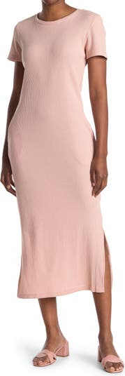 Платье-футболка с вафельным трикотажем и боковыми разрезами Cloth By Design