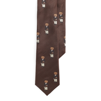 Polo Bear Silk Tie  SIZE Ralph Lauren