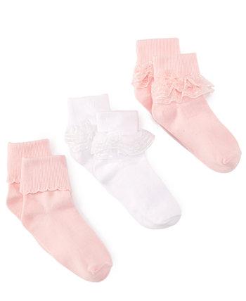 3-пакетные декоративные носки, маленькие девочки и большие девочки Trimfit