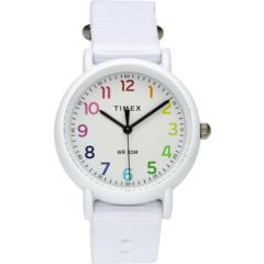 Часы Weekender® 34 мм с радужным циферблатом и тканевым ремешком Timex