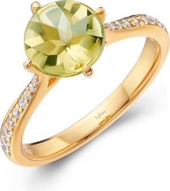 Кольцо с круглым камнем Aria LaFonn
