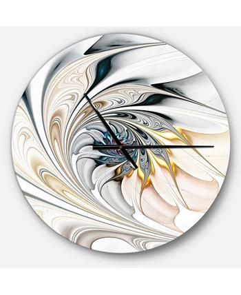 Крупногабаритные современные круглые металлические настенные часы Designart Design Art