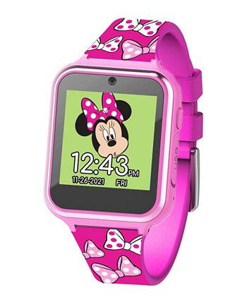 Детские умные часы с сенсорным экраном Минни Маус с розовым силиконовым ремешком, 46 мм x 41 мм ACCUTIME