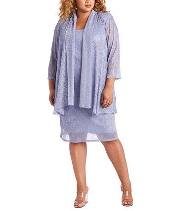 Платье и жакет без рукавов R & M Richards Plus размера металлик R & M Richards
