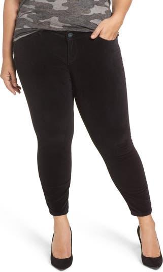 Бархатные джинсы скинни до щиколотки SLINK JEANS