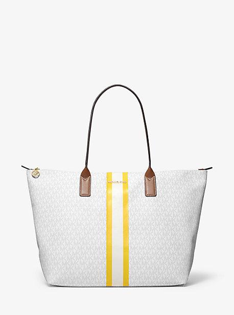 Большая большая сумка в полоску с логотипом Michael Kors