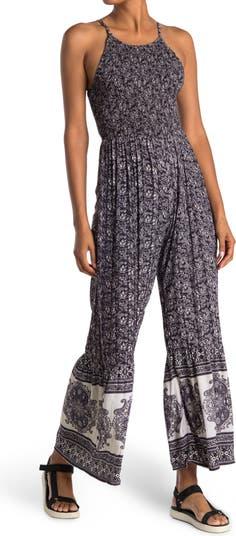 Smocked Printed Jumpsuit Angie