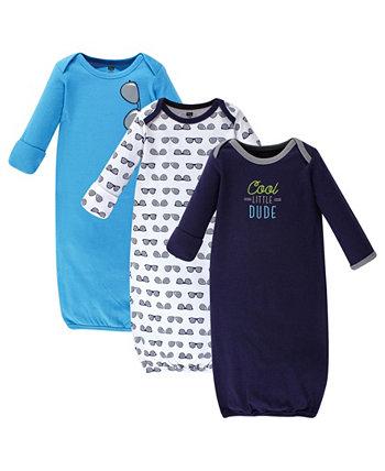 Хлопковые платья для маленьких девочек, 3 пары Hudson Baby