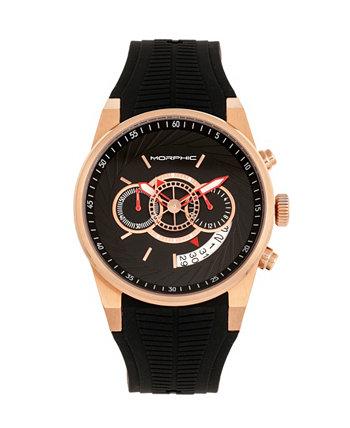 Кварцевые часы серии M72, MPH7204, часы с хронографом черного / розового золота, 43 мм Morphic