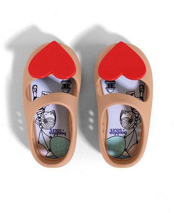 Обувь Kaia для девочек-малышей со сменной плоской вставкой Twist Lock Baubles + Soles