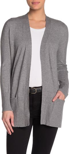 Кардиган с уютным карманом на рукавах в рубчик Cyrus