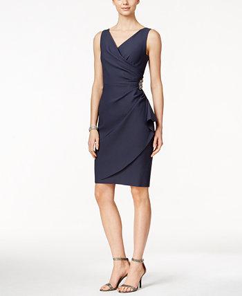 Компрессионное платье-футляр со сборками и рюшами Alex Evenings