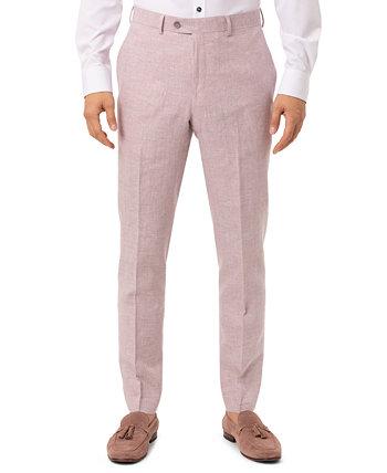 Men's Slim-Fit Pink Plaid Suit Separate Pants Tallia