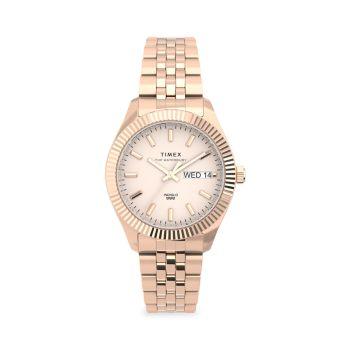 Часы Waterbury Legacy Boyfriend с браслетом из нержавеющей стали цвета розового золота Timex