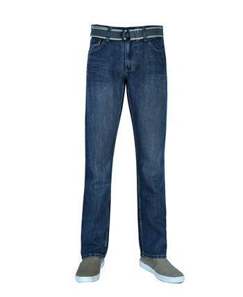 Мужские прямые джинсы с поясом Flypaper