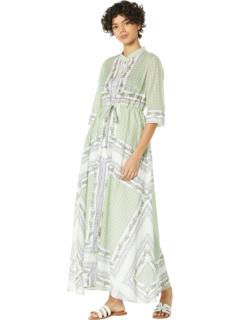Накидка на платье-рубашку с принтом Tory Burch Swimwear