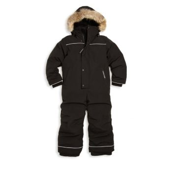 Зимний комбинезон для маленьких мальчиков с отделкой из меха койота с меховой отделкой Canada Goose