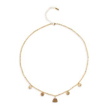 Микро самородок с покрытием из 18-каратного золота & amp; Ожерелье с подвеской Mini Squash Blossom Chan Luu