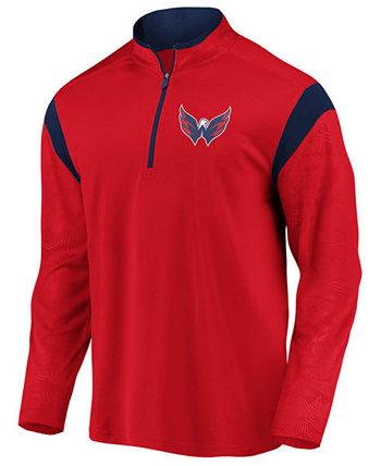 Мужской пуловер с застежкой-молнией и защитником Washington Capitals Majestic