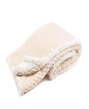 Детское одеяло Tadpoles Popcorn с плюшевой подкладкой из шерпы Sleeping Partners