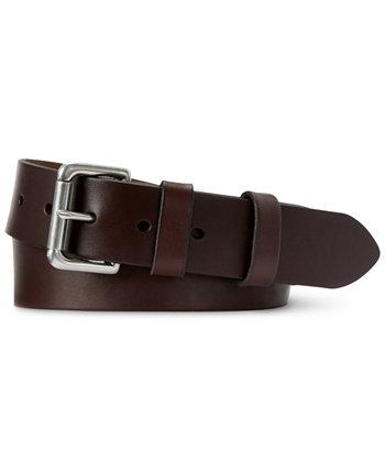 Мужской кожаный ремень с пряжкой Ralph Lauren