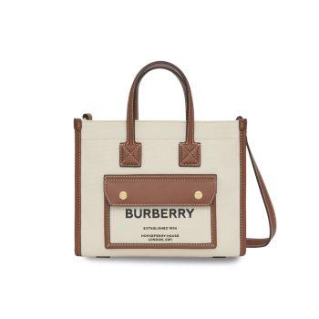 Миниатюрная парусиновая сумка с короткими ручками Horseferry Burberry