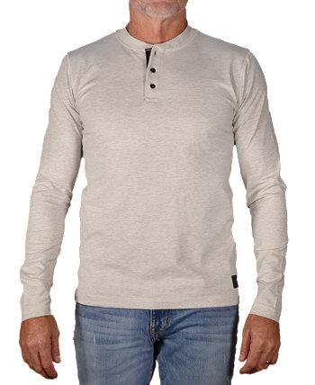 Мужская футболка Henley из эластичного джерси Vintage 1946
