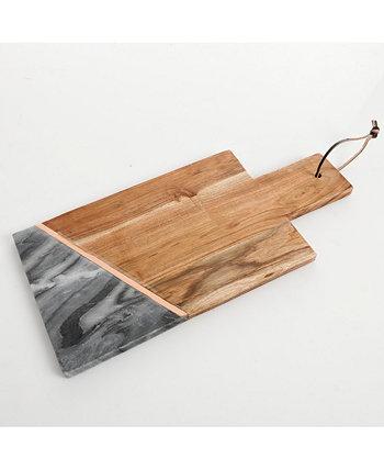 Сервировочная доска из дерева и мрамора Laurie Gates с ручкой Gibson