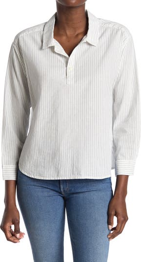 Укороченная рубашка в полоску ALEX MILL